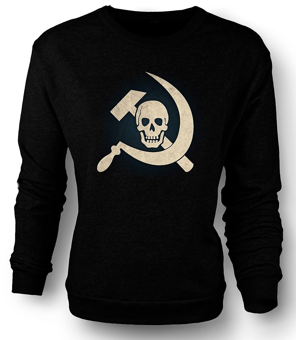 Mens Sweatshirt Russian Hammer & Sickle With Skull