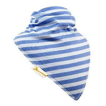 White & light blue stripes xxl bandana bib