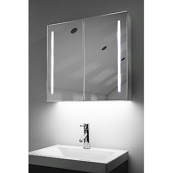 Demist Cabinet With LED Under Lighting, Sensor & Internal Shaver k360
