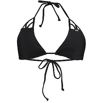 Oneill Black Out Solid Strap Triangle Womens Bikini Top