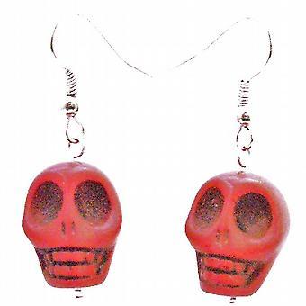Coral sjarm Punk Skull Rock perle øredobber