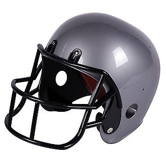 American Football Rugby Helm Erwachsene zum Kostüm Footballhelm silber