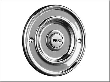 Byron ronde Wired Bell Push Flush Fit chroom