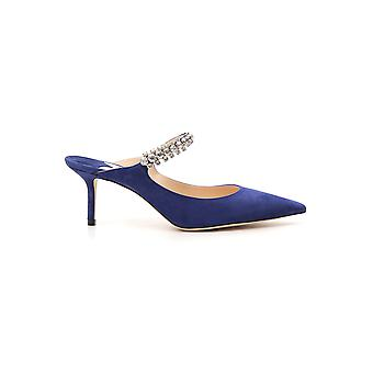 Jimmy Choo Blue Suede Sandals