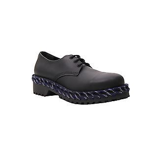 Balenciaga Black Leather Lace-up Shoes