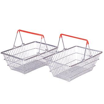 Bigjigs Toys Shopping Grocery Basket - Pretend Play, Strong Metal Frame (2)