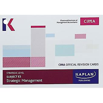 E3 STRATEGIC MANAGEMENT - REVISION CARDS by KAPLAN PUBLISHING - 97817