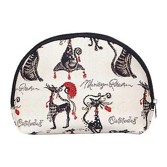 Marilyn robertson - catitude ladies' big cosmetic bag by signare tapestry / bgcos-cude
