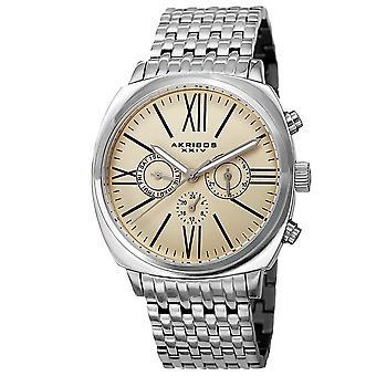 Akribos XXIV Men's Quartz Multifunction Matte Dial Bracelet Watch AK636SSW