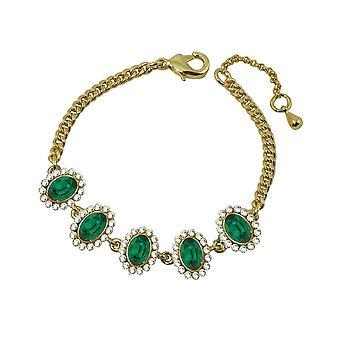Eternal Collection Majesty Emerald Green Crystal Gold Tone Bracelet