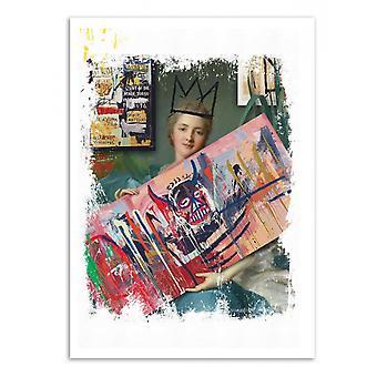 Art-poster-Basquiat fläkt-José Luis Guerrero 50 x 70 cm