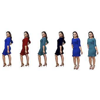 DBG kvinners havfrue 3/4 ermer trompet kjoler