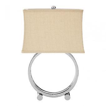 Premier Home Circlet Table Lamp, Metal, Silver