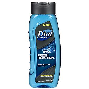 Dial for men body wash, sub zero fresh reaction, 16 oz