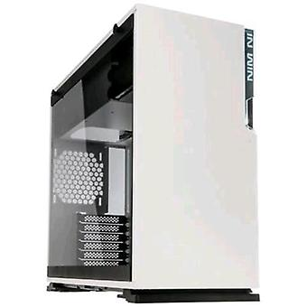 Inwin 101c cabinet vetro bianco temperato midi-tower