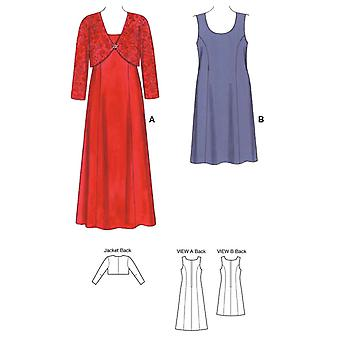 Dresses And Jacket  1X   2X   3X   4X Pattern K3514