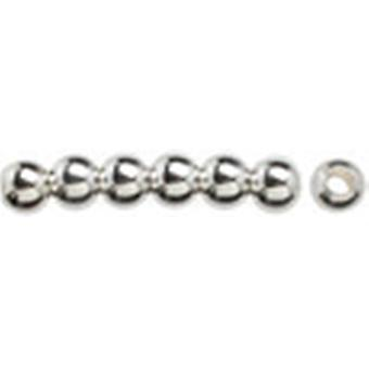Silver Plated Metal Findings 5Mm Round Bead 14 Pkg 295Slvpl 0230