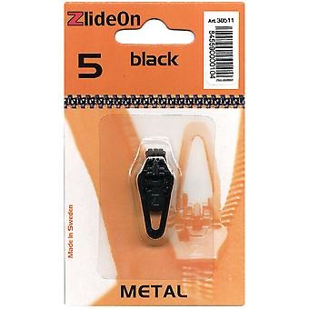 Zlideon Zipper Pull Replacements Metal 5 Black 3051 1