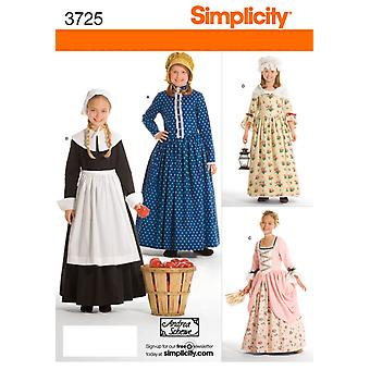Simplicity Childs And Girls Costumes 3,4,5,6 U03725hh