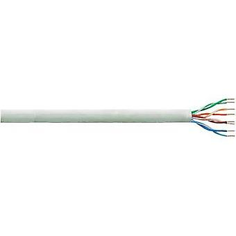 Network cable CAT 6 U/UTP 4 x 2 x 0.25 mm² Grey