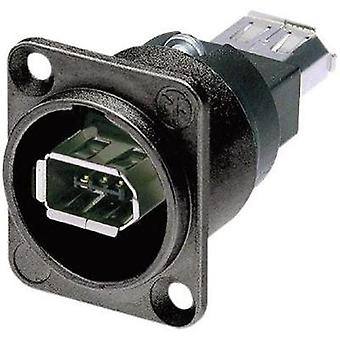 Neutrik NA1394-6-B-W NA1394-6-B-W IEEE 1394 Mounted Socket 6 IEEE Socket, build-in Black