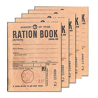5 x WW2 Replica Ration Book - Teaching Aids or Props