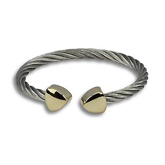 Ophelia silver cuff with gold accent
