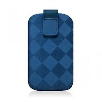 Puro Nabuk Case Iphone 4 3G Blue Rhomby (Home , Electronics , Telephones , Accessories)