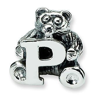 Sterling Silver Reflections Kids Letter P Bead Charm