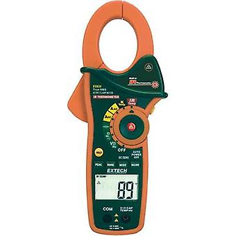 Current clamp, Handheld multimeter digital Extech EX830 Calibrated to: Manufacturer standards IR thermometer CAT III 600