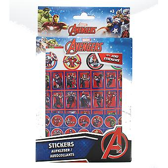 Marvel Avengers 100 Holographic Stickers Featuring Thor, The Hulk & Iron Man