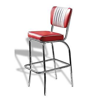 Carolina Retro gewatteerde keuken Bar Stool Chrome poten