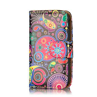 Design Book PU Leather Case Cover for Samsung Galaxy S5 G900 - Jellyfish