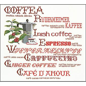 Coffee Sampler On Aida Counted Cross Stitch Kit-15.25