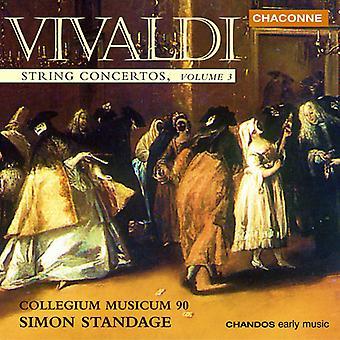 A. Vivaldi - Vivaldi: String Concertos, Vol. 3 [CD] USA import