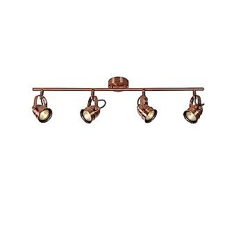 Lucide CIGAL Red Copper Bar 4 LED Spot Light