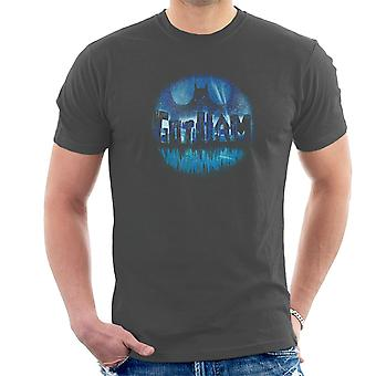 Batman Dark City Blue Men's T-Shirt
