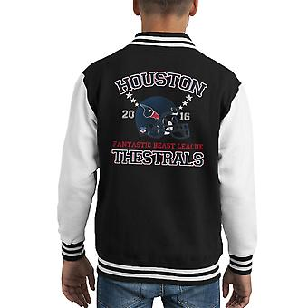Bestie fantastiche lega Varsity Jacket di Houston Thestral casco Kid