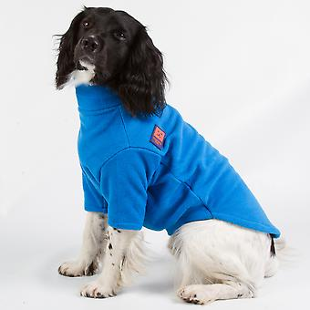 Ginger Ted Cosy Fleece Warm Dog Jumper  Blue (6 sizes)