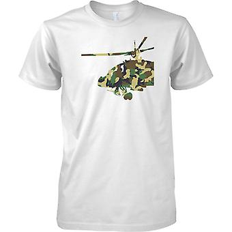 Apache Helicopter Camo Effect - Army Air Attack Chopper - Mens T Shirt