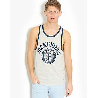 Jack and Jones Athletic Sports Vest Tee T-Shirt Grey