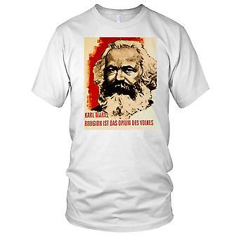 Karl Marx Religion Poster Ladies T Shirt