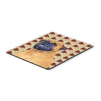 Carolines tesori SS4336MP Mastiff caduta foglie ritratto Mouse Pad, Pad caldo o
