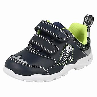 Jungen ersten Schuhe von Clarks Dinosaurier unter dem Motto Trainer Brite Rex