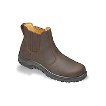 V12 VR610 Stallion Brown Waxy Dealer Boot EN20345:2011-S1P Size 10