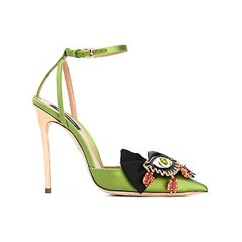 Dsquared2 ladies S17A30313408077 green leather sandals