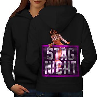 Kawalerski noc kobiet BlackHoodie tyłu | Wellcoda