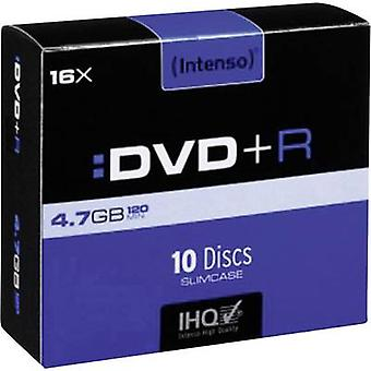 Blank DVD+R 4.7 GB Intenso 4111652 10 pc(s) Slim c