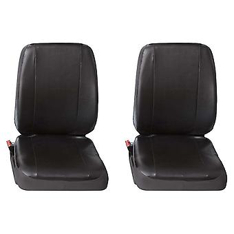 Two Single Commercial Leatherette Van Seat Covers Renault Trafic Van 2001-2014