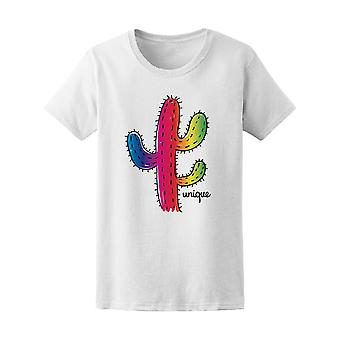 Unique Colorful Cactus Tee Women's -Image by Shutterstock
